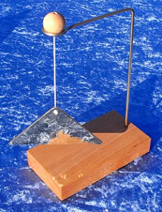 Trigon with wood stand