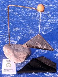Trigon with stone stand
